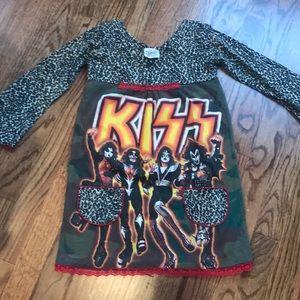 Boutique Girls KISS Dress Kaos sz 6